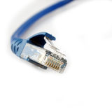 RJ-45 broadband cable Royalty Free Stock Images