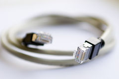 RJ-45 cable. Network cable of type rj-45 stock photography
