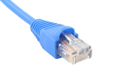 RJ-45 cable on pure white background #2 royalty free stock image