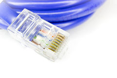 Isolated RJ45 connector Stock Photo