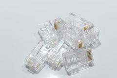 RJ45 connector Royalty Free Stock Photo