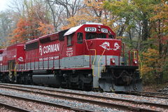 RJ Corman Railroad Locomotive 7123. In the fall Royalty Free Stock Image