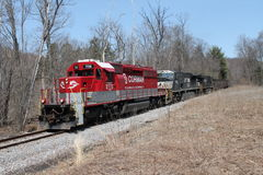 RJ Corman Railroad Locomotive 7116. Fallen Timber Line Stock Photos
