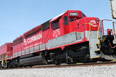 RJ Corman Railroad Locomotive 7081 Stock Images