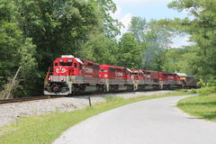 RJ Corman Train on a summer day Stock Photography