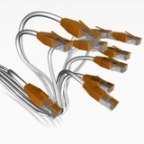 Rj45. 3d illustration of  3j45 network cable Stock Image