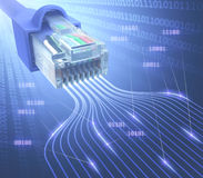 RJ45 Network Binary Royalty Free Stock Images