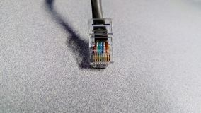 An RJ45 8P8C Network Connector Royalty Free Stock Images