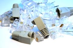 RJ45 connectors Royalty Free Stock Image