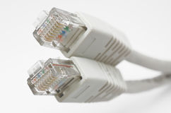 RJ45 Jacks Royalty Free Stock Photo