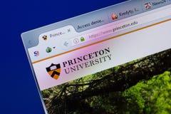 Rjazan', Russia - 17 giugno 2018: Homepage del sito Web dell'università di Princeton sull'esposizione del PC, URL - Princeton edu fotografia stock libera da diritti