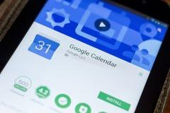 Rjazan', Russia - 3 luglio 2018: Google regista il cellulare app sull'esposizione del PC della compressa Immagine Stock