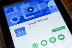 Rjazan', Russia - 3 luglio 2018: Google regista il cellulare app sull'esposizione del PC della compressa Immagini Stock