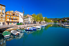 Rjecina flod i den Rijeka panoramautsikten Royaltyfria Bilder