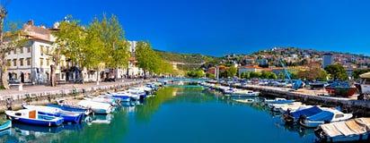 Rjecina flod i den Rijeka panoramautsikten Royaltyfri Bild