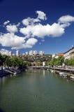 Rjecina flod i Rijeka, Kroatien Royaltyfri Foto