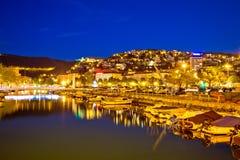 Rjecina floddelta i Rijeka aftonsikt Royaltyfri Fotografi