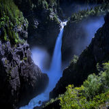 Rjukanfossen from above Royalty Free Stock Images