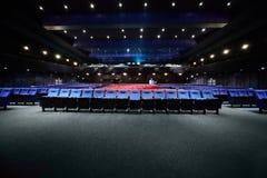 ręk krzesła opróżniają sala picturedrome Fotografia Royalty Free