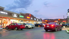 RK Shopping Plaza stock footage