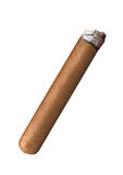 Röka den havana cigarren Arkivbild