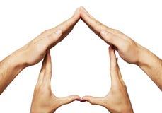 Ręka domowy symbol Zdjęcie Stock