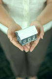 ręka domu model Obrazy Stock