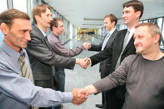 ręka drży biznes partner Fotografia Stock