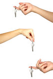 ręka klucze Fotografia Royalty Free
