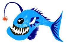 Ręka remisu kreskówki ryba Zdjęcia Royalty Free