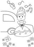 Ręka rysująca kolorystyki strona panna młoda dostaje poślubiający Zdjęcie Royalty Free