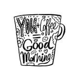 Ręka rysująca rocznik wycena dla kawowy o temacie: Obrazy Stock