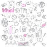 Ręka Rysujący biznes Doodles wektoru set Obraz Royalty Free