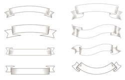 Ręka rysujący tasiemkowy rocznika styl Obraz Royalty Free