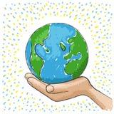 ręka świat Obraz Royalty Free