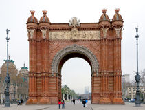 ärke- barcelona triumphal spain Arkivbild