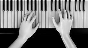 Ręki bawić się pianino Zdjęcia Royalty Free
