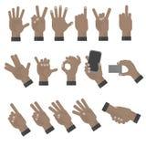 Ręki gestykuluje set Zdjęcia Royalty Free