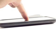 Ręki macania ekran Zdjęcie Royalty Free