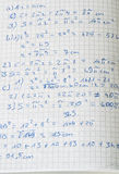 Ręki pisać maths obliczenia Obraz Royalty Free
