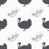 Ręki rysować rolne ptasie modniś sylwetki bezszwowe Fotografia Royalty Free
