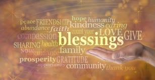 Räkna dina välsignelser Arkivfoto