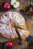 räknade geléskivor för äpple cake Royaltyfri Foto