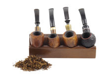 rökning Trärör och tobak Royaltyfria Bilder