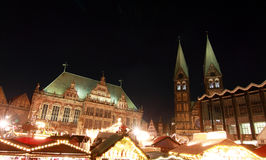 Rkt ½ ¿ Weihnachtsmï (рынок рождества) в Бремен Стоковые Изображения RF