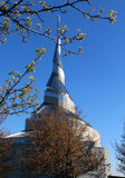 RLDS-salong/kyrka Arkivfoto