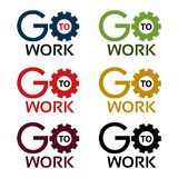Go to work stock icons. Colorful set icon. label. vector. EPS file available. see more images related royalty free illustration