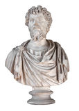 Rman emperor Septimius Severus. Ancient marble bust of the roman emperor Septimius Severus isolated on white with clipping path Stock Image