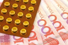 RMB和医学 免版税库存照片