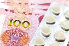 RMB和医学 免版税库存图片